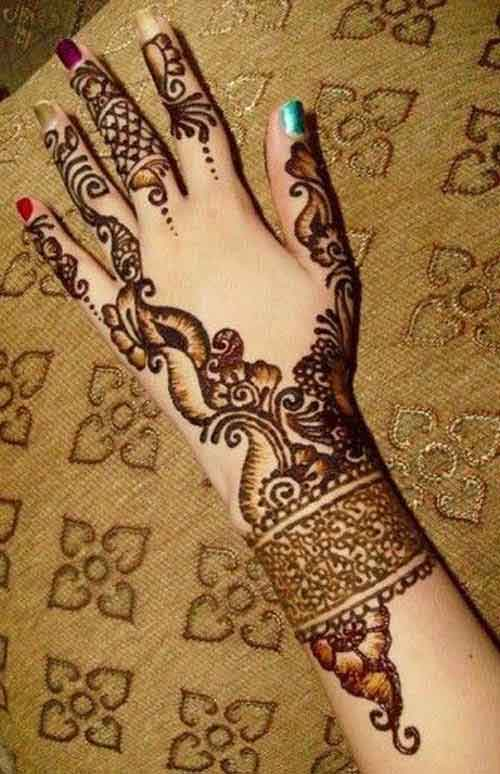 gujarati mehndi for fingers