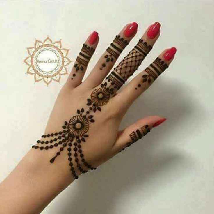20 latest and stylish one line mehndi designs for hands. Black Bedroom Furniture Sets. Home Design Ideas