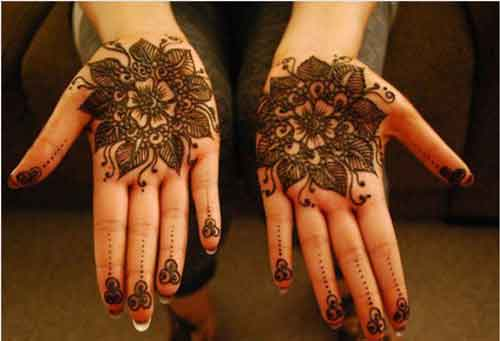 Round Flower Mehndi Designs : Top amazing simple circle mehndi designs and easy