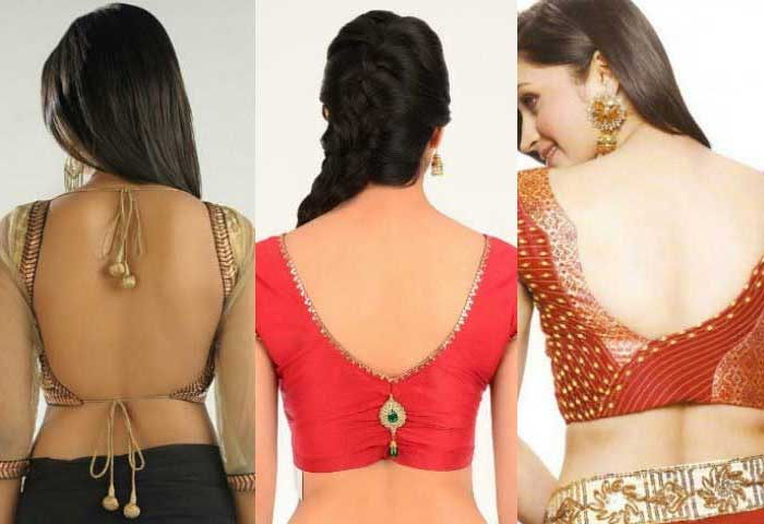 40 Latest Back Neck Blouse Designs For Women That Will Perfectly Suit for Stylish Women