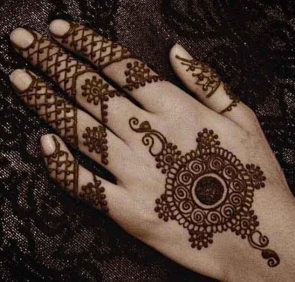 best circle mehndi back side