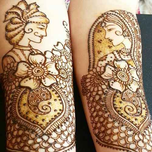 bride groom mehndi
