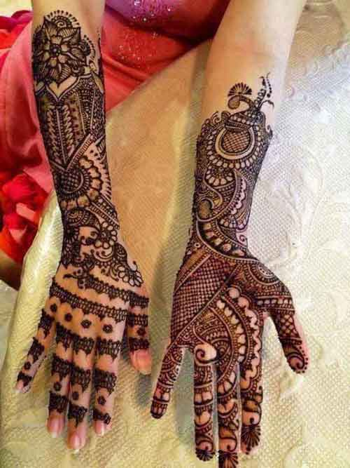 full hands circle mehndi