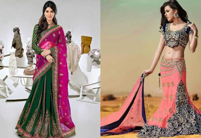 920a73873aa80 Best Lehenga Sarees with Blouse Designs For Luxury Occasions