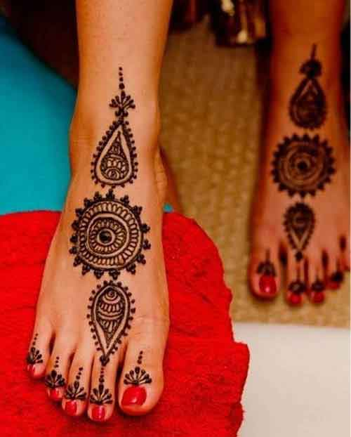 Mehndi For Lags : Top amazing simple circle mehndi designs and easy
