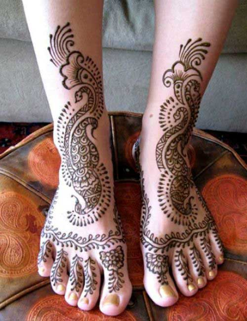 Leg Mehndi Simple : Top eye catching leg mehndi designs