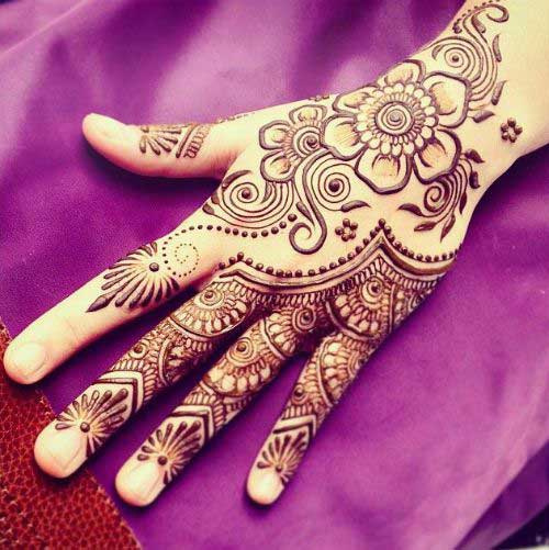 Mehndi Right Hand : Beautiful back hand mehndi designs that you can do by