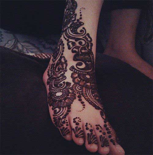 Floral Foot Mehandi Design