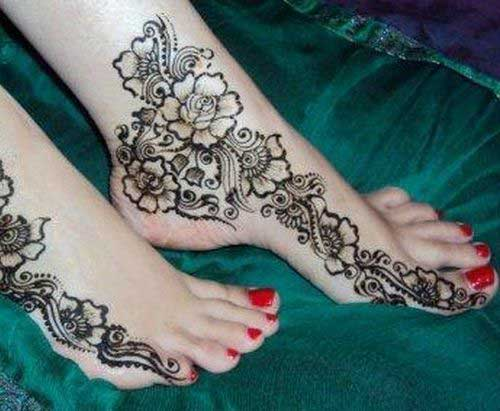 Mehndi Designs For Feet : Inspired foot mehndi designs stylish and trendy