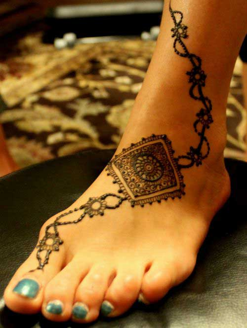 Arabic Mehndi Design for Foot