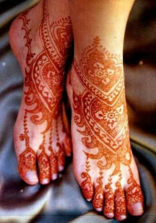 Rajasthani Mehandi Design for Foot