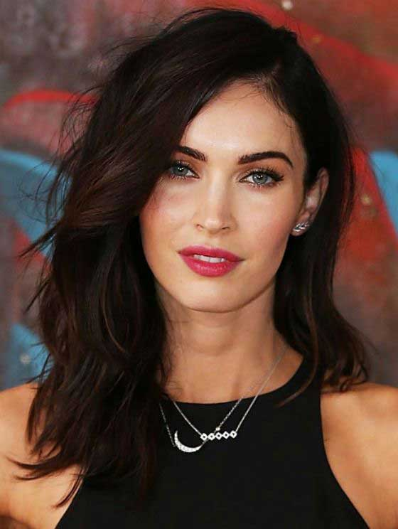 megan fox shoulder length hair