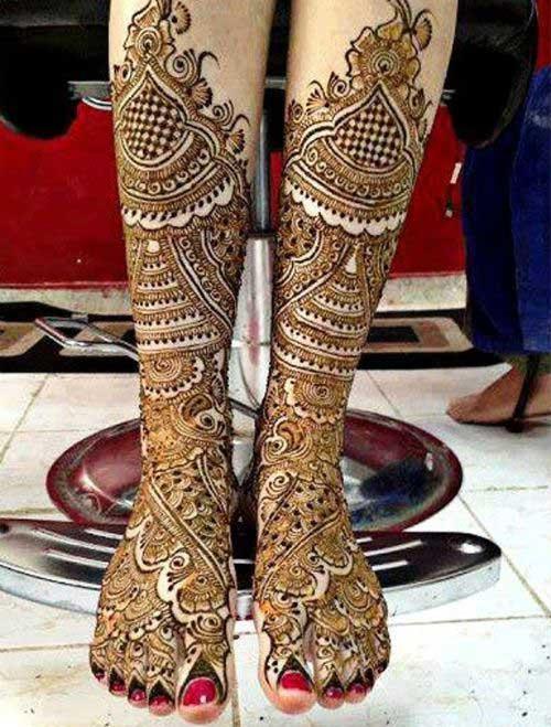 Leg Mehndi Design : Top eye catching leg mehndi designs