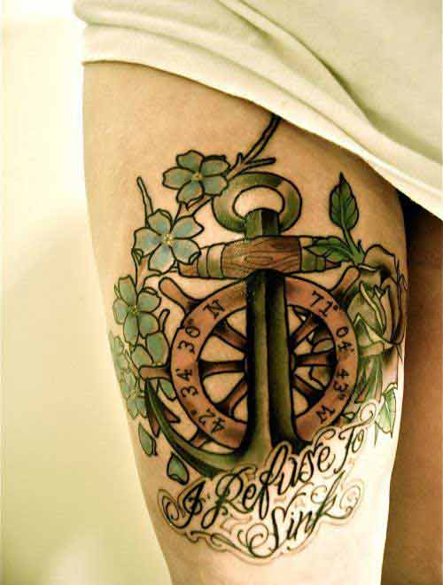 anchor-and-ship-wheel-tattoo-with-quotes