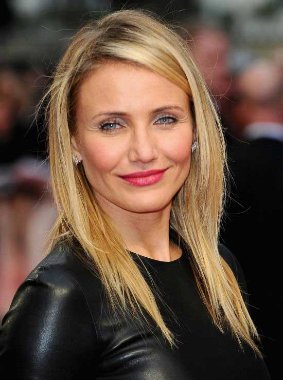 Cameron Diaz Medium Straight Hairstyle