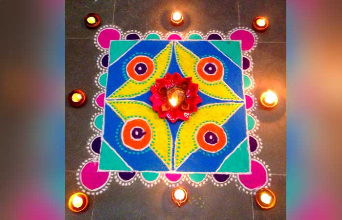 colourful-rangoli-with-diya