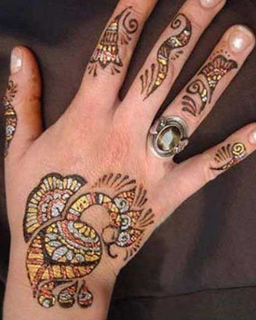 Cute Glitter Mehandi Design