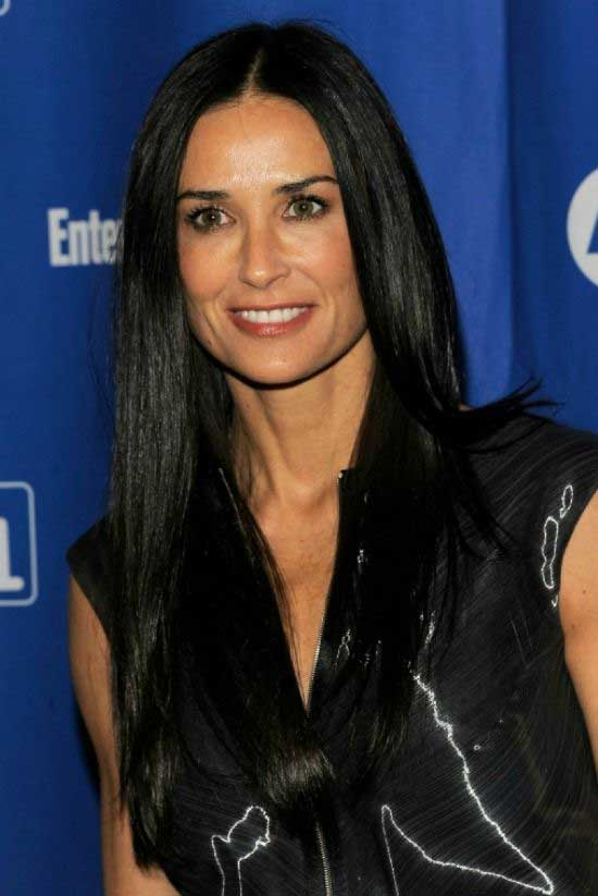 Demi Moore Long Straight Cut Hairstyle