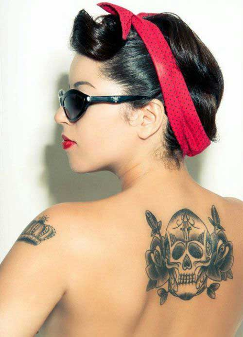 25 most amazing skull tattoo designs for men and women. Black Bedroom Furniture Sets. Home Design Ideas