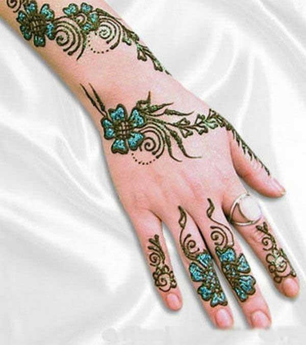 Mehndi Henna Glitter : Beautiful glitter mehndi designs for every occasion