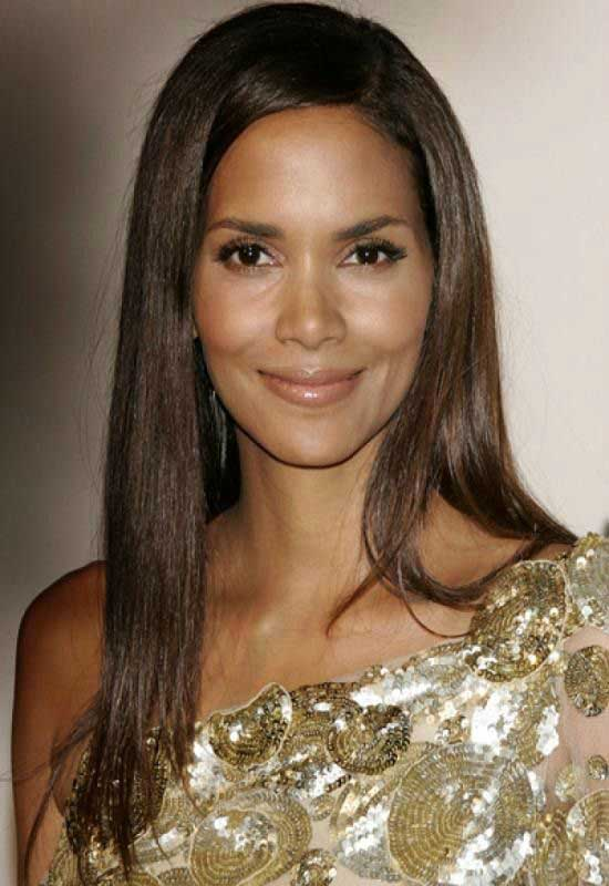 Halle Berry Straight Long Black Hairstyle