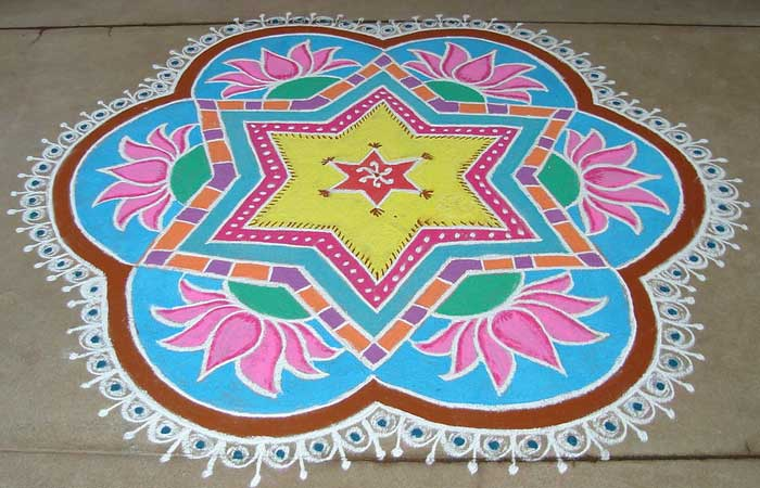 lotus-flower-rangoli