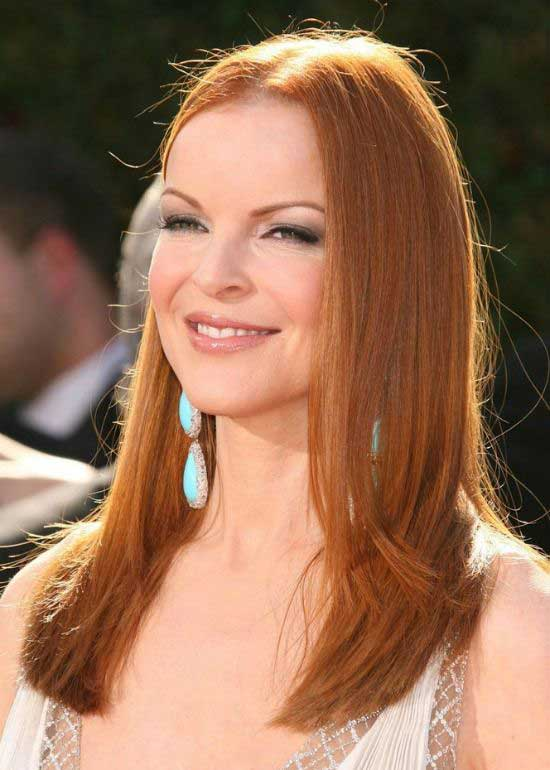 Marcia Cross Straight Hairstyle