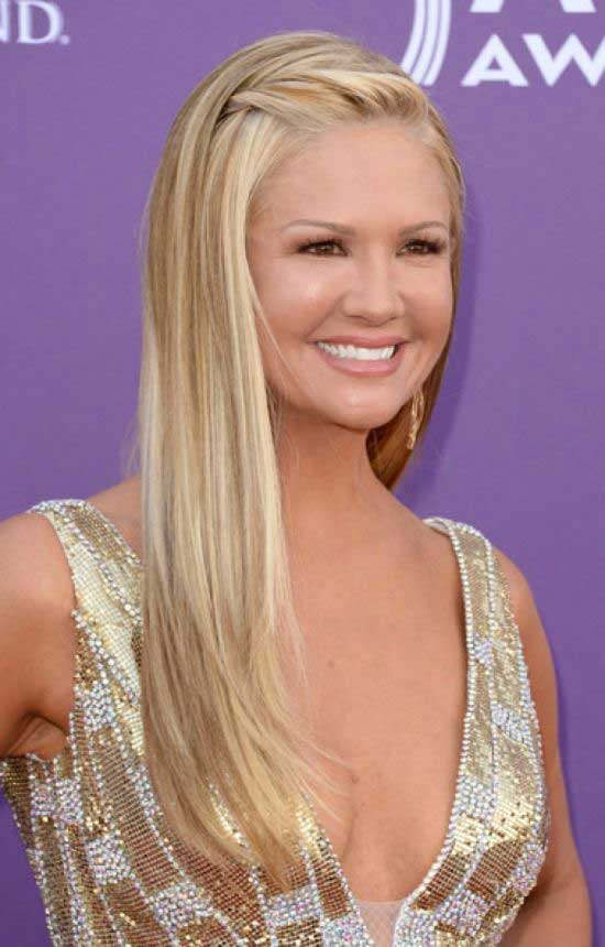 Nancy O'Dell Long Straight Hairstyle