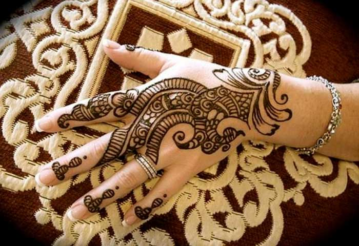 Mehndi For Head : Beautiful ring mehndi designs for your hands