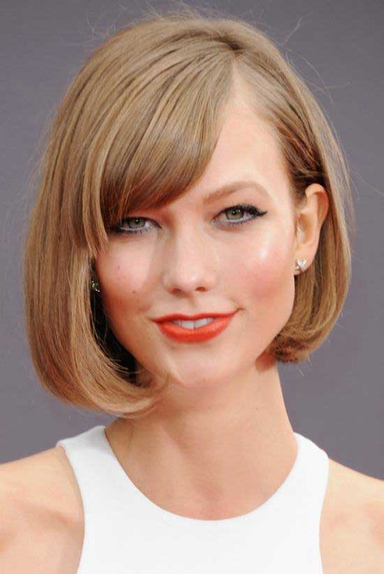 35 awesome bob haircuts with bangs makes you truly stylish simpler and chic hairstyle with angled bob and side bangs and more bangs will come on side of your face that appears you in as well turned outlook winobraniefo Image collections