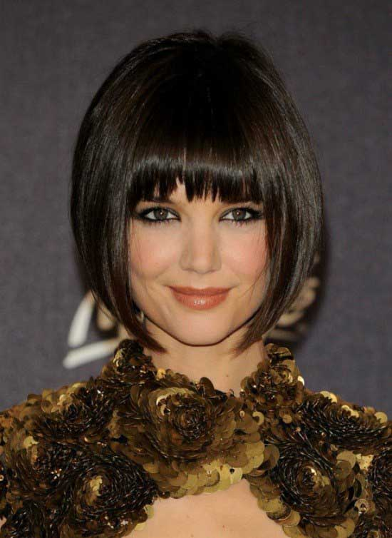 35 awesome bob haircuts with bangs makes you truly stylish short bob thick hairstyle with bangs urmus Choice Image