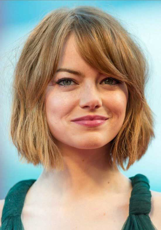 Bob Hairstyle With Side Swept Bangs