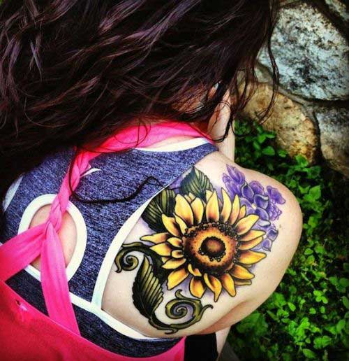 shoulder-sunflower-tattoo