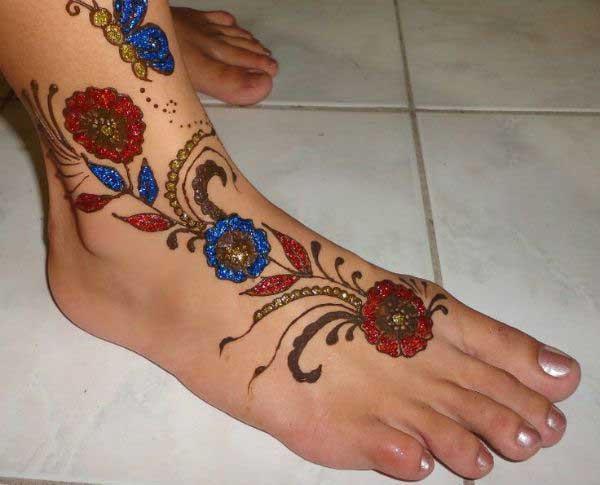 Mehndi Ankle Images : Simple mehndi designs