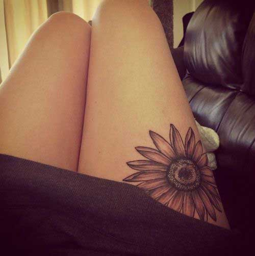 sun-flower-tattoo-on-thighs