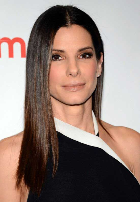 Sandra Bullock Long Straight Hairstyle