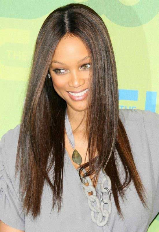Tyra Banks Straight Long Sleek Hairstyle