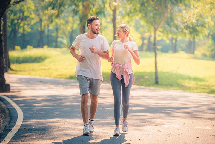 Walking for burning calories