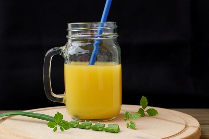 aloe vera and orange juice detox