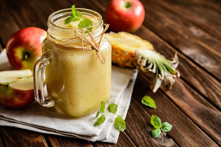 apple and pineapple juice detox
