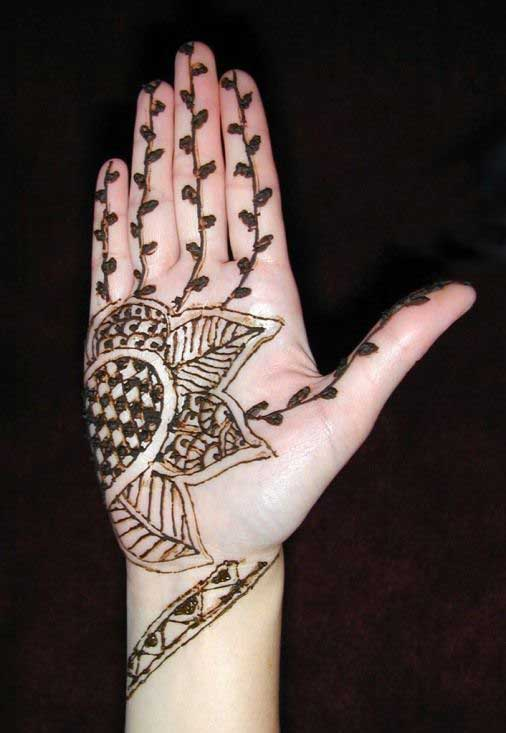 Fancy Henna Mehndi For Girls : Latest fancy mehndi designs for girls and beautiful womens