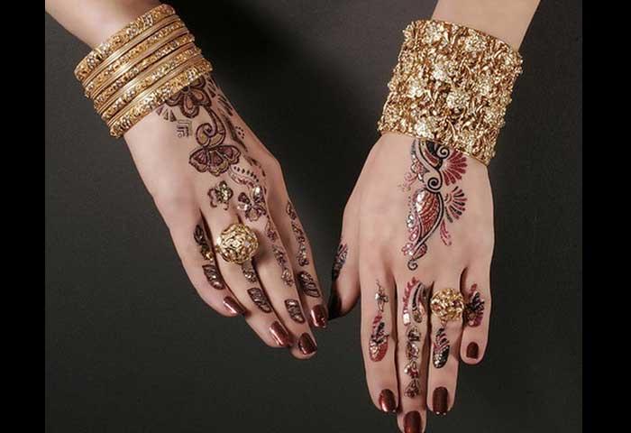 Mehndi Diya Design : Top beautiful engagement mehndi designs for womens