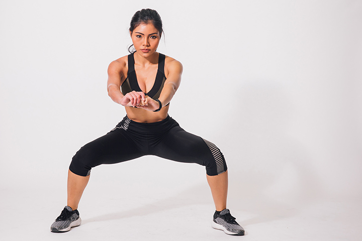 plie squat for toned thighs