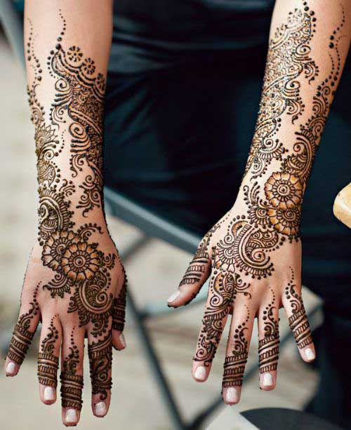Mehndi For Right Hand Back Side : Most amazing arabic mehndi designs latest collection