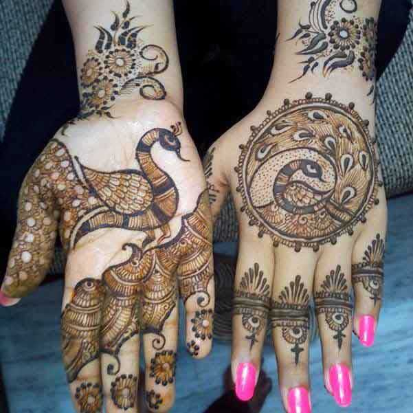 25 Latest Peacock Mehndi Designs For Hands