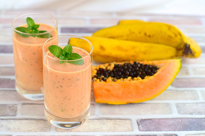 banana papaya smoothie recipe