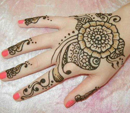 Simple Flower Mehendi Design