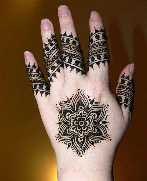 Black Mehndi Design for Finger