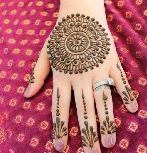 Big Flowers Mehndi Design