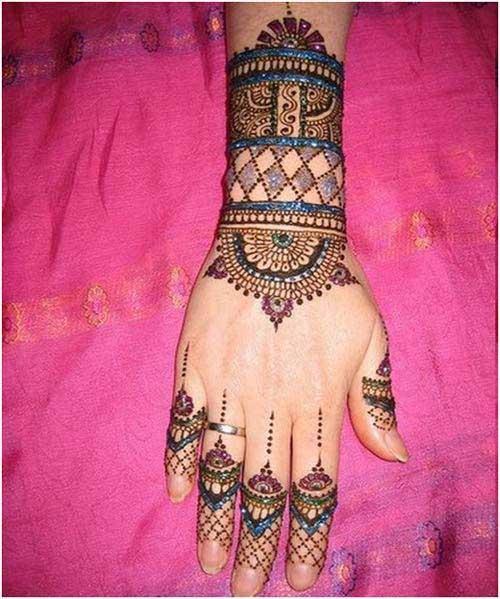 colorful-bangle-mehndi-design